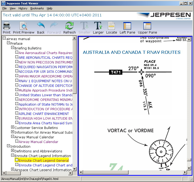 Jeppesen Text Viewer