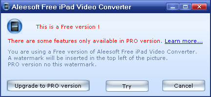 Aleesoft's Free iPad Video Converter