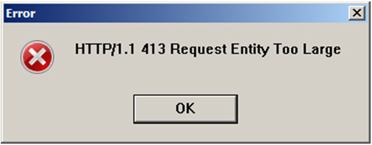 Ошибка http/1.1 413 request entity too large